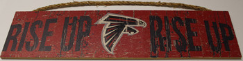 "ATLANTA FALCONS - OFFICIAL RISE UP RISE UP 4 X 16"" WOODEN SIGN"