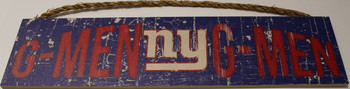 "NEW YORK GIANTS - OFFICIAL G-MEN G-MEN 4 X 16"" WOODEN SIGN"