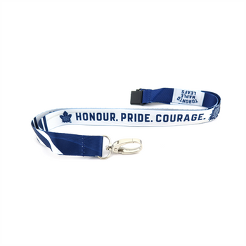 TORONTO MAPLE LEAFS NHL HOCKEY LANYARD - SUBLAMINATE KEY HOLDER - NEW WITH TAGS