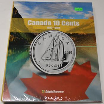 VISTA COIN BOOK CANADA 10 CENTS (DIMES) - VOL 2 - 1953-DATE