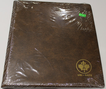 UNI-SAFE EMBOSSED BROWN COIN ALBUM - VOL 150