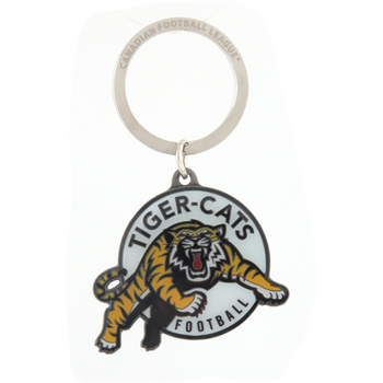 HAMILTON TIGER-CATS - DIE CUT LOGO KEYCHAIN - CFL FOOTBALL