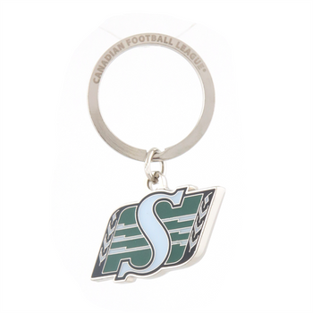 SASKATCHEWAN ROUGHRIDERS - DIE CUT LOGO KEYCHAIN - CFL FOOTBALL