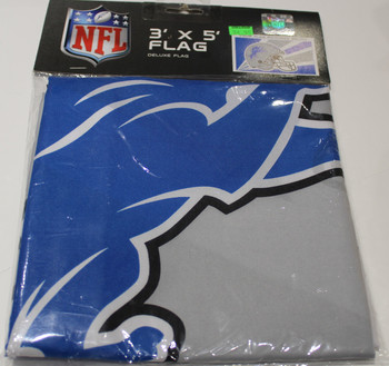 DETROIT LIONS - POLYESTER FLAG - 3 X 5 FEET - INDOOR/OUTDOOR - BRAND NEW