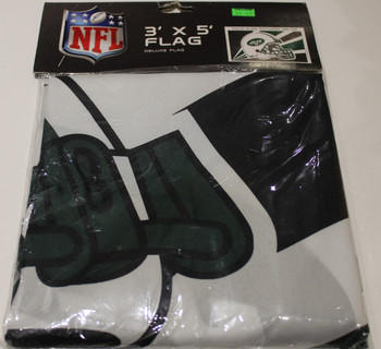 NEW YORK JETS - POLYESTER FLAG - 3 X 5 FEET - INDOOR/OUTDOOR - BRAND NEW
