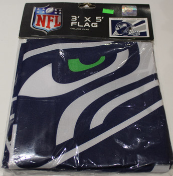 SEATTLE SEAHAWKS - POLYESTER FLAG - 3 X 5 FEET - INDOOR/OUTDOOR - BRAND NEW