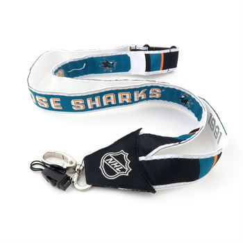 SAN JOSE SHARKS NHL HOCKEY LANYARD - WOVEN