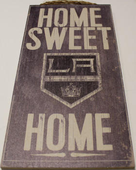 "LOS ANGELES KINGS OFFICIAL NHL HOME SWEET HOME 6 X 12"" WOODEN SIGN"