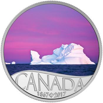2017 $10 FINE SILVER COIN CELEBRATING CANADA'S 150TH: ICEBERG AT DAWN