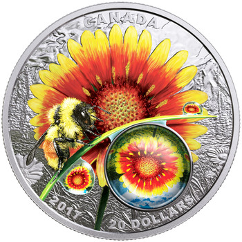 2017 $20 FINE SILVER COIN MOTHER NATURE'S MAGNIFICATION: BEAUTY UNDER THE SUN