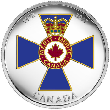 2017 $20 FINE SILVER COIN - CANADIAN HONOURS: 45TH ANNIVERSARY OF THE ORDER OF MILITARY MERIT