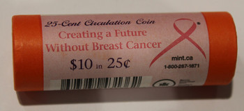 2006 CREATING A FUTURE WITHOUT BREAST CANCER QUARTER ROLL - SEALED IN ORIGINAL SPECIAL WRAP - 25 CENT