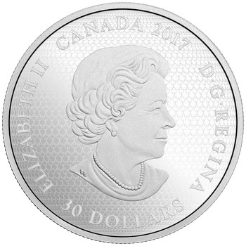 2017 $30 FINE SILVER COIN CELEBRATING CANADA DAY
