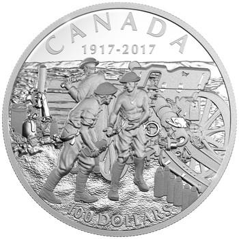 2017 $100 FINE 10 OUNCE SILVER COIN - VIMY RIDGE