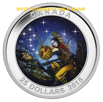 SALE - 2015 $25 FINE SILVER COIN STAR CHARTS: THE WOUNDED BEAR