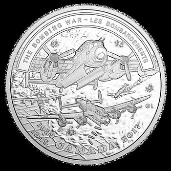 2017 $20 FINE SILVER COIN - SECOND WORLD WAR: BATTLEFRONT SERIES – THE BOMBING WAR