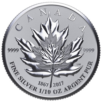 2017 FINE SILVER FRACTIONAL SET MAPLE LEAF TRIBUTE