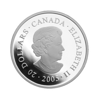 2005 $20 FINE SILVER COIN - CANADIAN NATIONAL PARKS - PACIFIC RIM