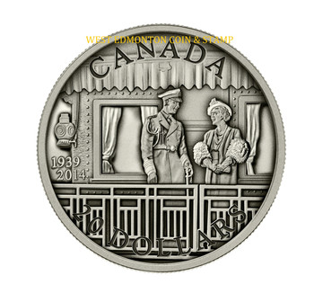 2014 $20 FINE SILVER COIN 75TH ANNIVERSARY OF THE FIRST ROYAL VISIT