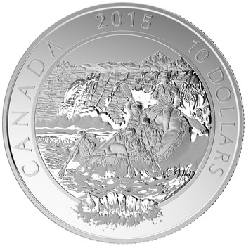 2015 $10 FINE SILVER COIN ADVENTURE CANADA: WHITEWATER RAFTING
