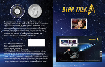 2016 25-CENT COLOURED COIN AND STAMP SET STAR TREK™: ENTERPRISE