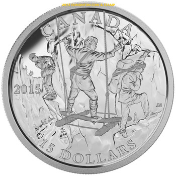 2015 $15 FINE SILVER COIN - EXPLORING CANADA - THE WILD RIVERS EXPLORATION