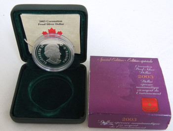 2003 PROOF COMMEMORATIVE SILVER DOLLAR - SPECIAL EDITION - QUEEN'S CORONATION