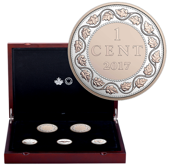 2017 LEGACY OF THE PENNY COIN SET - FINE SILVER WITH ROSE GOLD PLATE