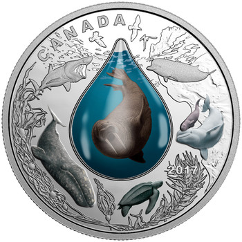 SALE - 2017 $20 FINE SILVER COIN CANADIAN UNDERWATER LIFE