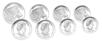 2016 FINE SILVER FRACTIONAL SET WOLF