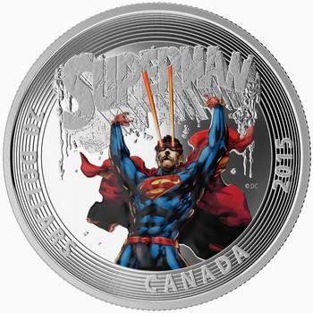 2015 $20 FINE SILVER COIN - ICONIC SUPERMAN™ COMIC BOOK COVERS - SUPERMAN #28 (2014)