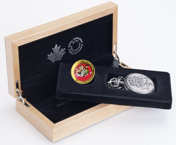 2015 $100 14-KARAT GOLD COIN AND POCKET WATCH - LOONEY TUNES™ - BUGS BUNNY AND FRIENDS