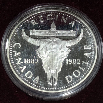 1982 PROOF COMMEMORATIVE SILVER DOLLAR - CENTENNIAL OF REGINA
