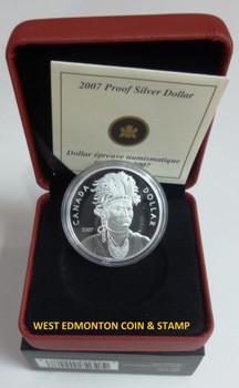 2007 PROOF COMMEMORATIVE SILVER DOLLAR - JOSEPH BRANT (THAYENDANEGEA)