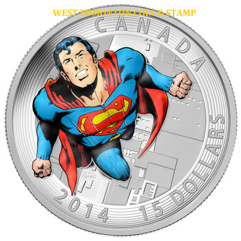 2014 $15 FINE SILVER COIN ICONIC SUPERMAN™ COMIC BOOK COVERS: ACTION COMICS #419 (1972)