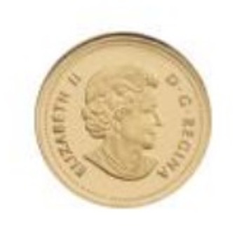 2014 25-CENT PURE GOLD COIN CHIPMUNK
