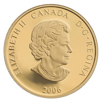 2006 $100 14 KARAT GOLD COIN WORLD'S LONGEST HOCKEY SERIES