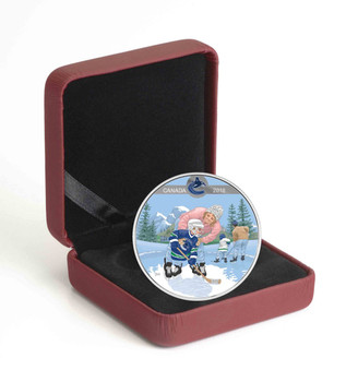 2018 $10 FINE SILVER COIN LEARNING TO PLAY: VANCOUVER CANUCKS®