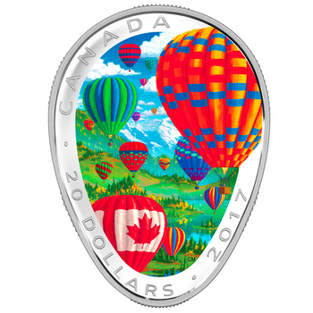 2017 $20 FINE SILVER COIN - HOT AIR BALLOONS