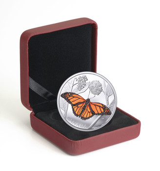 2017 $50 FINE SILVER COIN MONARCH MIGRATION