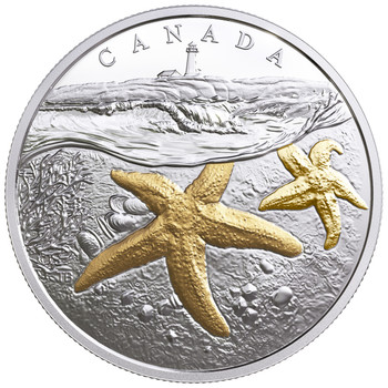 2017 $20 FINE SILVER COIN FROM SEA TO SEA TO SEA: ATLANTIC STARFISH