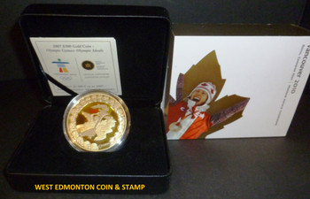 2007 OLYMPIC $300 PREMIUM GOLD COIN - OLYMPIC IDEALS
