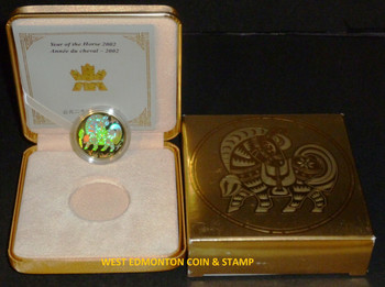 2002 $150 HOLOGRAM GOLD COIN - YEAR OF THE HORSE