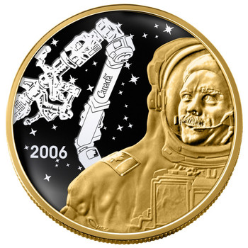 2006 $300 CANADIAN ACHIEVEMENTS $300 COIN - CANADARM & COL. CHRIS HADFIELD