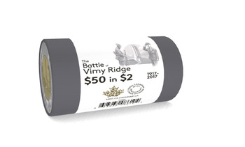 2017 $2 SPECIAL WRAP ROLL THE BATTLE OF VIMY RIDGE