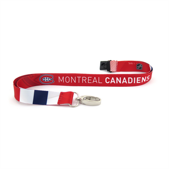 MONTREAL CANADIENS NHL HOCKEY LANYARD - SUBLAMINATE KEY HOLDER - NEW WITH TAGS