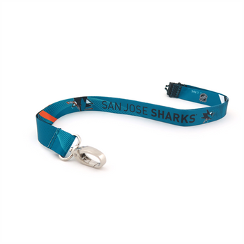 SAN JOSE SHARKS NHL HOCKEY LANYARD - SUBLAMINATE KEY HOLDER - NEW WITH TAGS