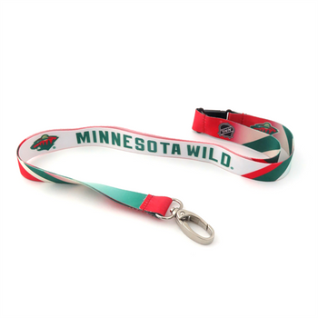 MINNESOTA WILD NHL HOCKEY LANYARD - SUBLAMINATE KEY HOLDER - NEW WITH TAGS
