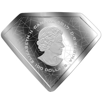 2017 $100 FINE SILVER COIN DC COMICS ORIGINALS: SUPERMAN'S SHIELD