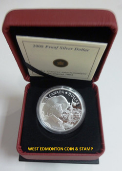 2008 PROOF COMMEMORATIVE SILVER DOLLAR - 400TH ANNIVERSARY OF QUEBEC CITY (1608-2008)